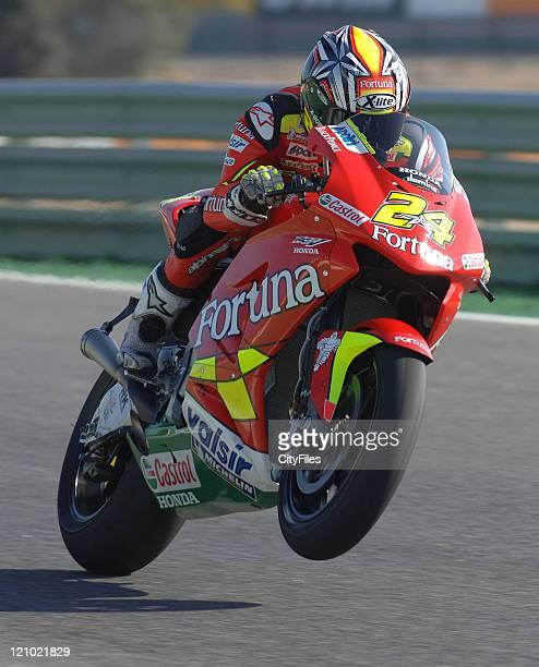 Toni Elias during training for the 2006 Estoril Moto GP in Estoril Portugal on October 14 2006