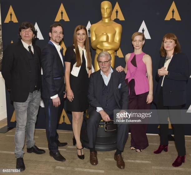 "Toni Erdmann"" producers Jonas Dornbach, Janine Jackowski, actors Peter Simonischek, Sandra Huller and Director Maren Ade attend 89th Annual Academy..."