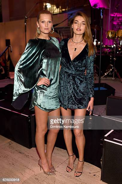 Toni Garrn and Alina Baikova attend the 2016 Angel Ball hosted by Gabrielle's Angel Foundation For Cancer Research on November 21 2016 in New York...