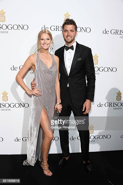 Toni Garrn and Chandler Parsons attends the De Grisogono Party at the annual 69th Cannes Film Festival at Hotel du CapEdenRoc on May 17 2016 in Cap...