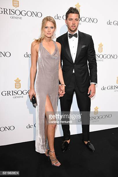 Toni Garrn and guest attend the De Grisogono Party at the annual 69th Cannes Film Festival at Hotel du CapEdenRoc on May 17 2016 in Cap d'Antibes...