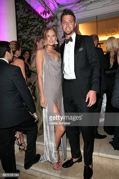 Toni Garrn and her boyfriend Chandler Parson during the 'De Grisogono' Party at the annual 69th Cannes Film Festival at Hotel du CapEdenRoc on May 17...