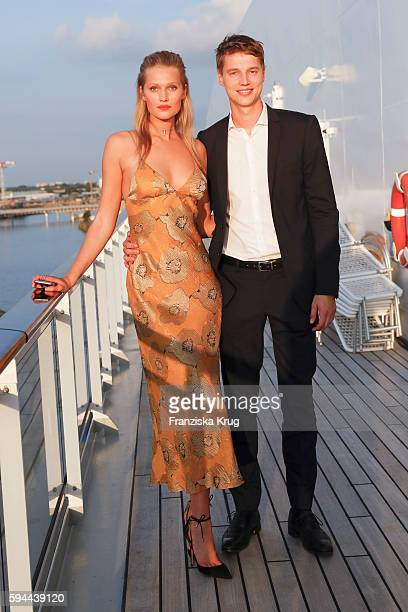 Toni Garrn and her brother Niklas Garrn attend the Fashion2Night event at EUROPA 2 on August 23 2016 in Hamburg Germany