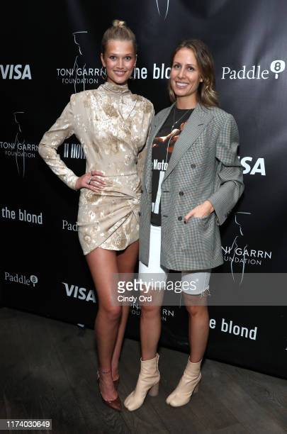 Toni Garrn and Izabela Depczyk attend Toni Garrn Foundation Supermodel Flea Market 2019 Launch Party at The Blond on September 11 2019 in New York...