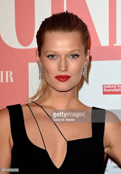 Toni Garrn at The Naked Heart Foundation's Fabulous Fund Fair in London at Old Billingsgate Market on February 20 2016 in London England