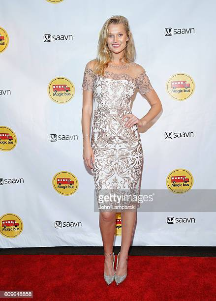 Toni Garrn attends 2nd Annual Magic Bus Gala at Three Sixty on September 21 2016 in New York City