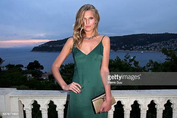 Toni Garrn attends a BVLGARI gala dinner during a fourday BVLGARI Brand Event on June 2 2016 in Monaco Monaco