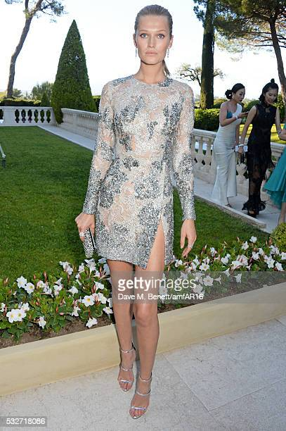 Toni Garrn attends amfAR's 23rd Cinema Against AIDS Gala at Hotel du CapEdenRoc on May 19 2016 in Cap d'Antibes France