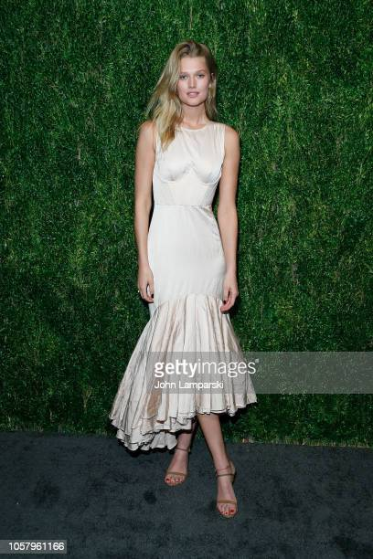 Toni Garrn attends CFDA / Vogue Fashion Fund 15th Anniversary Event at Brooklyn Navy Yard on November 5 2018 in Brooklyn New York