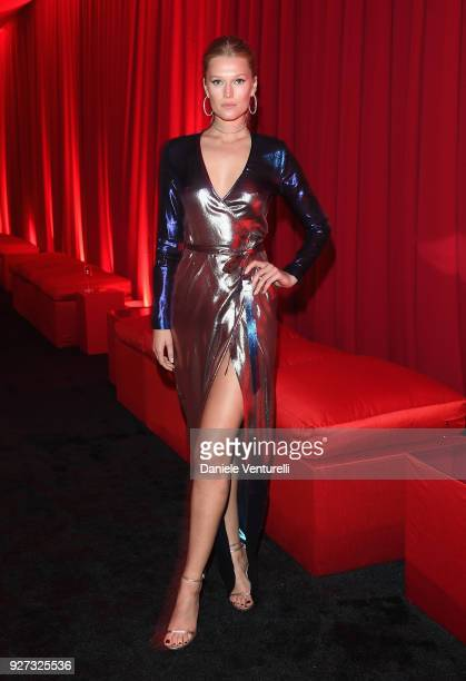 Toni Garrn attends Elton John AIDS Foundation 26th Annual Academy Awards Viewing Party at The City of West Hollywood Park on March 4 2018 in Los...
