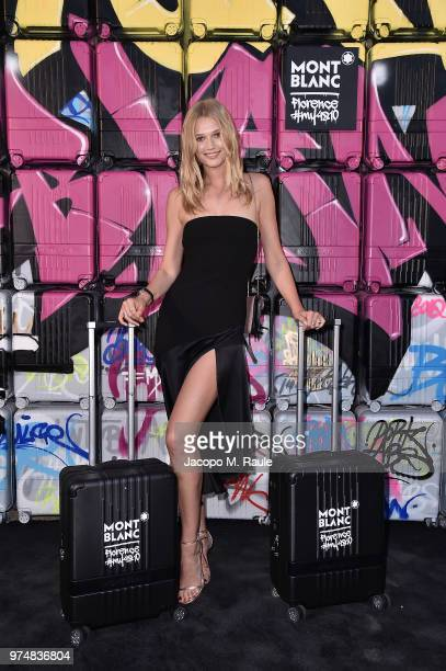 Toni Garrn attends Montblanc cocktail party during the 94th Pitti Immagine Uomo on June 14 2018 in Florence Italy