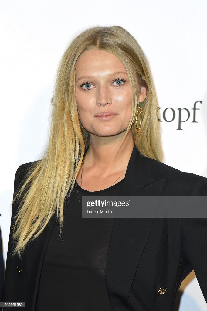 Toni Garrn attends the 120th anniversary celebration of Schwarzkopf at U3 subway tunnel Potsdamer Platz on February 8, 2018 in Berlin, Germany.