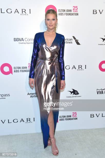 Toni Garrn attends the 26th annual Elton John AIDS Foundation's Academy Awards Viewing Party at The City of West Hollywood Park on March 4 2018 in...
