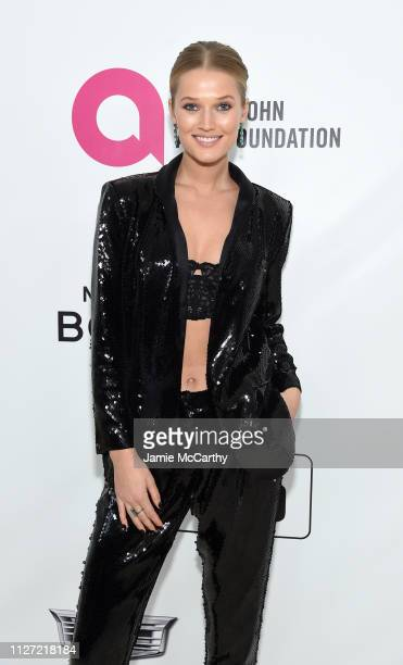 Toni Garrn attends the 27th annual Elton John AIDS Foundation Academy Awards Viewing Party sponsored by IMDb and Neuro Drinks celebrating EJAF and...