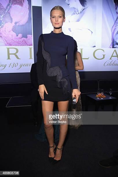 Toni Garrn attends the amfAR Milano 2014 Gala as part of Milan Fashion Week Womenswear Spring/Summer 2015 on September 20 2014 in Milan Italy