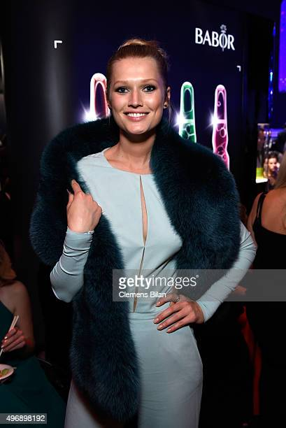 Toni Garrn attends the Bambi Awards 2015 party at Atrium Tower on November 12, 2015 in Berlin, Germany.