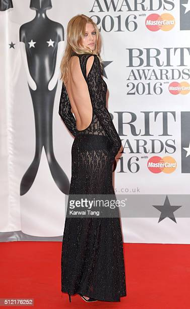 Toni Garrn attends the BRIT Awards 2016 at The O2 Arena on February 24 2016 in London England