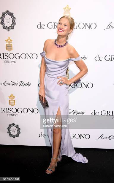 Toni Garrn attends the De Grisogono Love On The Rocks party during the 70th annual Cannes Film Festival at Hotel du CapEdenRoc on May 23 2017 in Cap...