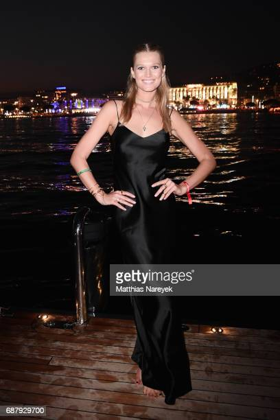 Toni Garrn attends the Generous People 5th Anniversary Party during the 70th annual Cannes Film Festival at Martinez Pier on May 24 2017 in Cannes...