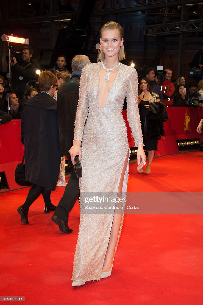 Toni Garrn attends 'The Grand Budapest Hotel' Premiere and opening ceremony during the 64th Berlinale International Film Festival, in Berlin, Germany.