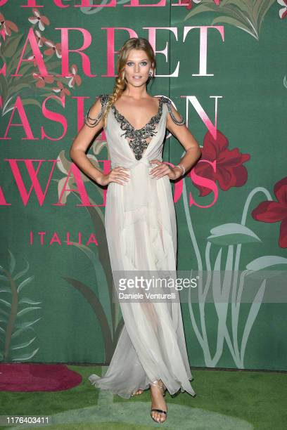 Toni Garrn attends the Green Carpet Fashion Awards during the Milan Fashion Week Spring/Summer 2020 on September 22 2019 in Milan Italy