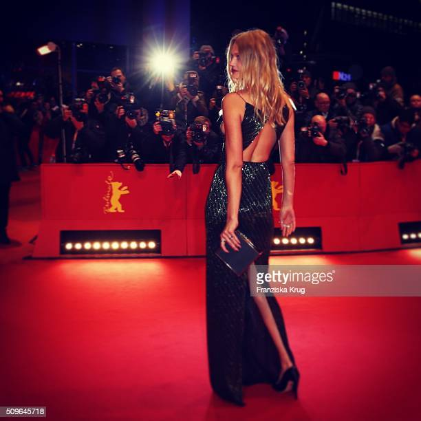 Toni Garrn attends the 'Hail Caesar' premiere during the 66th Berlinale International Film Festival Berlin at Berlinale Palace on February 11 2016 in...