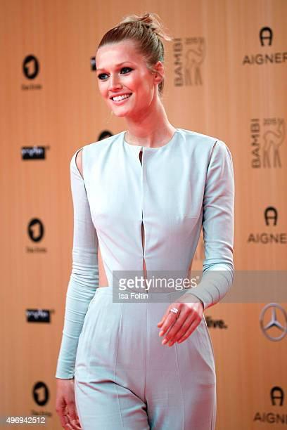 Toni Garrn attends the Kryolan At Bambi Awards 2015 Red Carpet Arrivals on November 12 2015 in Berlin Germany