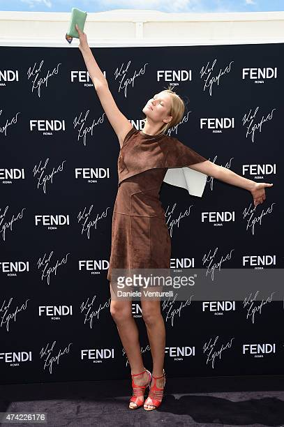 Toni Garrn attends the launch of the new Fendi By Karl Lagerfeld Book during the 68th annual Cannes Film Festival on May 21 2015 in Cannes France