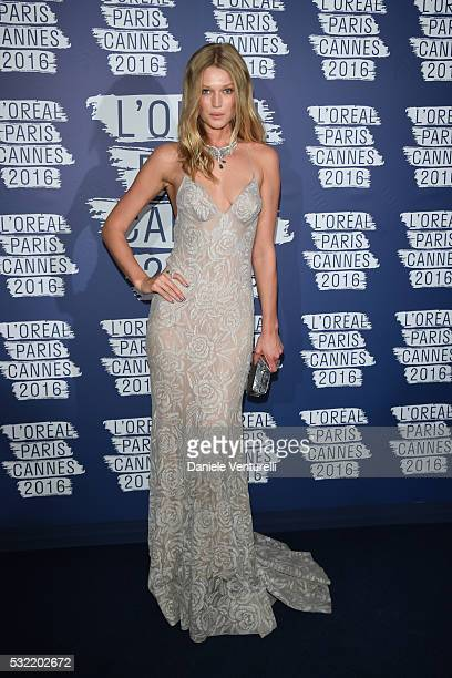Toni Garrn attends the L'Oreal Party during the annual 69th Cannes Film Festival at on May 18 2016 in Cannes France