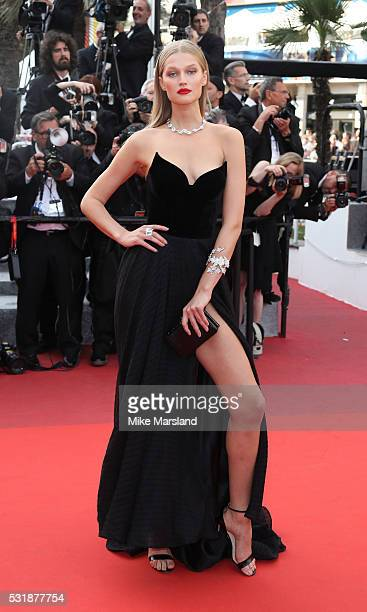 Toni Garrn attends the 'Loving' premiere during the 69th annual Cannes Film Festival at the Palais des Festivals on May 16 2016 in Cannes France