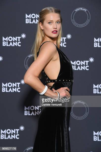 Toni Garrn attends the Montblanc dinner hosted by Charlotte Casiraghi for the collection launch 'Les Aimants at Villa La Favorite on May 16 2018 in...