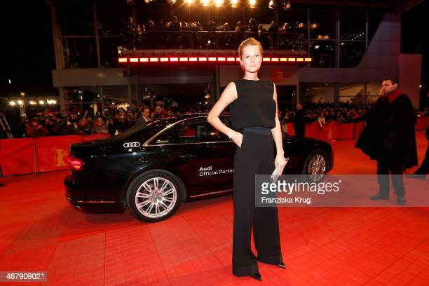 Toni Garrn attends 'The Monuments Men' Premiere during The 64th Berlinale International Film Festival at Berlinale Palast on February 08, 2014 in...