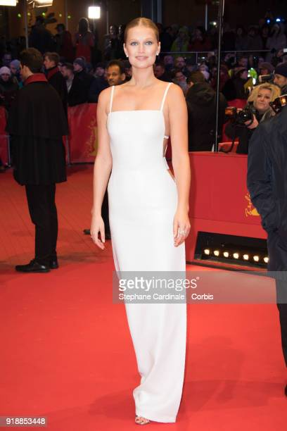 Toni Garrn attends the Opening Ceremony 'Isle of Dogs' premiere during the 68th Berlinale International Film Festival Berlin at Berlinale Palace on...