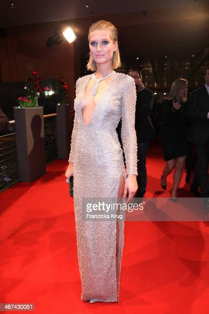 Toni Garrn attends the Opening Party 64th Berlinale International Film Festival at Berlinale Palast on February 06 2014 in Berlin Germany