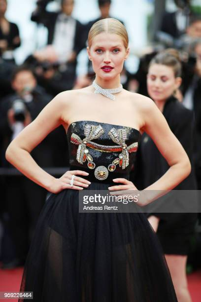 Toni Garrn attends the screening of Burning during the 71st annual Cannes Film Festival at Palais des Festivals on May 16 2018 in Cannes France