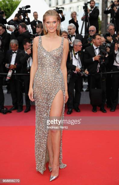 Toni Garrn attends the screening of Solo A Star Wars Story during the 71st annual Cannes Film Festival at Palais des Festivals on May 15 2018 in...