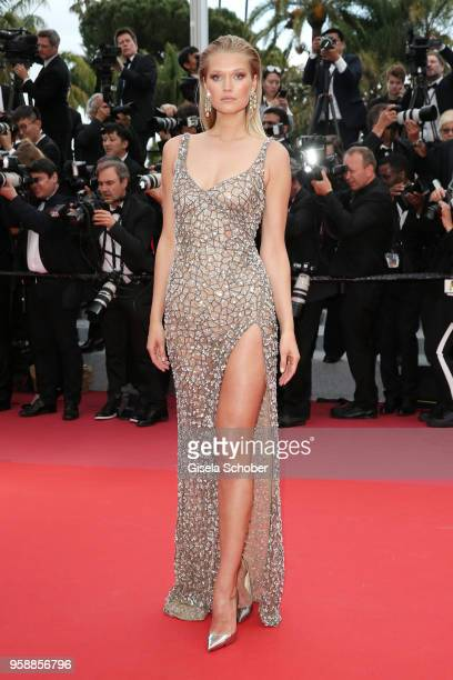 Toni Garrn attends the screening of 'Solo A Star Wars Story' during the 71st annual Cannes Film Festival at Palais des Festivals on May 15 2018 in...