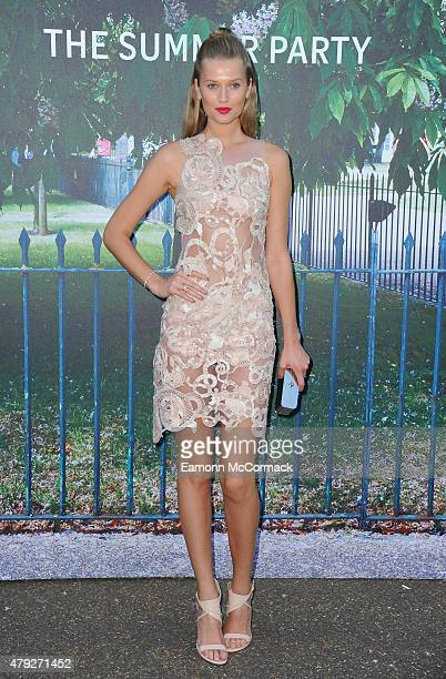 Toni Garrn attends The Serpentine Gallery Summer Party on July 2 2015 in London England