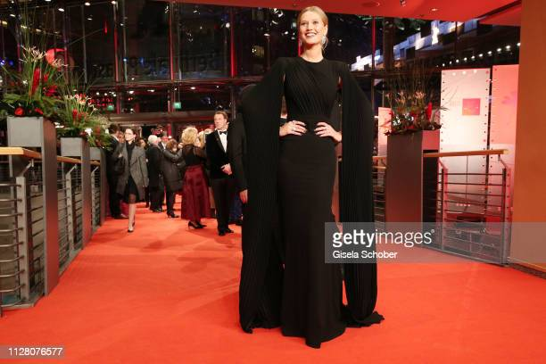 Toni Garrn attends the The Kindness Of Strangers premiere during the 69th Berlinale International Film Festival Berlin at Berlinale Palace on...