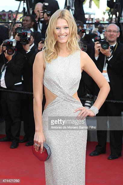 Toni Garrn attends the 'The Little Prince' premiere during the 68th annual Cannes Film Festival on May 22 2015 in Cannes France