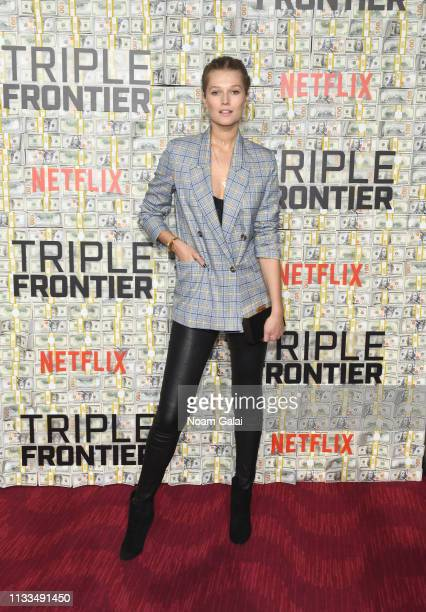 Toni Garrn attends the Triple Frontier World Premiere at Jazz at Lincoln Center on March 03 2019 in New York City