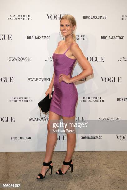 Toni Garrn attends the VOGUE Fashion Party at Kunstareal am Weissensee on July 6 2018 in Berlin Germany