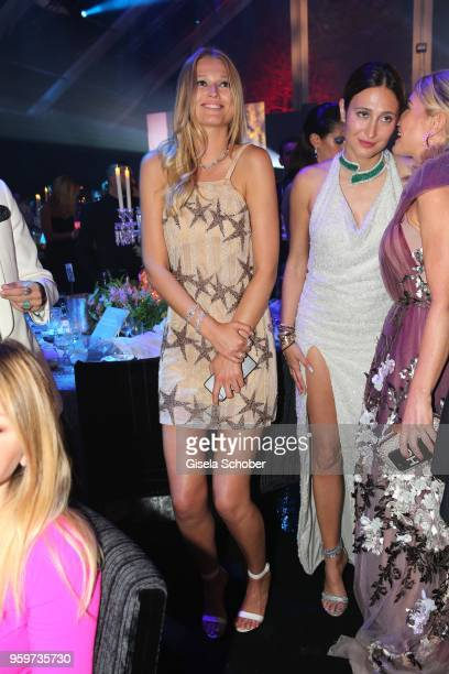 Toni Garrn during the amfAR Gala Cannes 2018 dinner at Hotel du CapEdenRoc on May 17 2018 in Cap d'Antibes France
