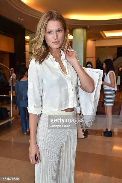 Toni Garrn is seen on day 8 of the 68th annual Cannes Film Festival on May 20 2015 in Cannes France