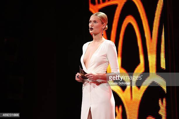 Toni Garrn is seen on stage during the Bambi Awards 2014 show on November 13 2014 in Berlin Germany