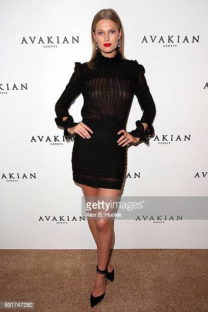 Toni Garrn visits the Avakian Suite on May 16 2016 in Cannes France