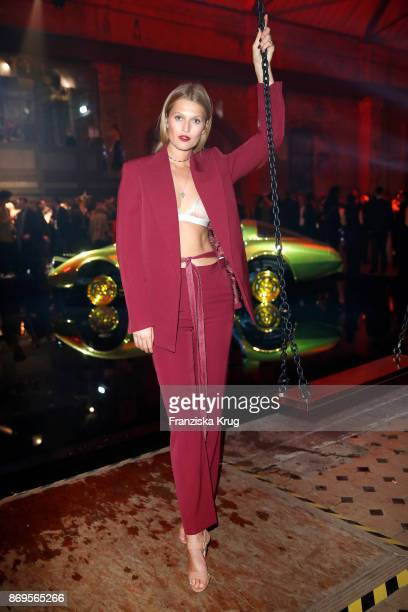 Toni Garrn wearing two JUSTE UN CLOU rings attends the When the Ordinary becomes Precious #CartierParty at Old Power Station on November 2 2017 in...