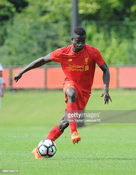 Toni Gomes of Liverpool in action during the Liverpool v Blackburn U18 game at the Kirkby Academy on August 15 2016 in Kirkby England