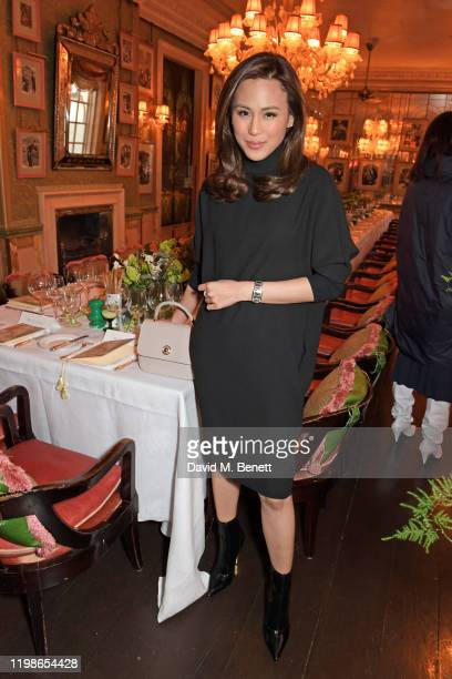 Toni Gonzaga attends an intimate lunch to launch Time With Alessandra Facchinetti for harlan holden at Harry's Bar on February 4 2020 in London...