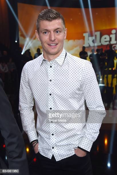 Toni Kroos attends the 'Klein gegen Gross' TV Show on February 12 2017 in Berlin Germany